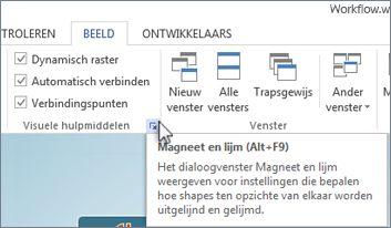 Startpictogram voor dialoogvenster Visuele hulpmiddelen
