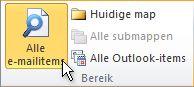 Alle e-mailitems op het lint