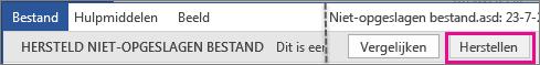 Office 2016: niet-opgeslagen bestand openen