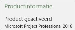Productgegevens - Project Professional 2016