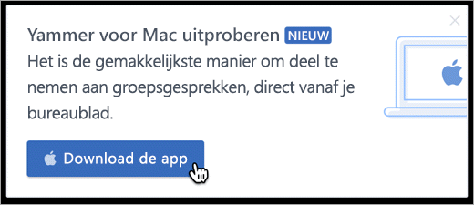In-product messaging voor Mac
