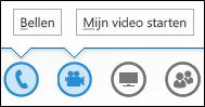 Schermafbeelding van de knoppen voor audio en video