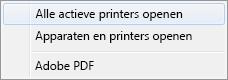 Selecteer Alle actieve printers weergeven.