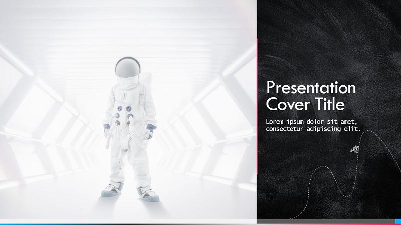 Schermafbeelding van een cover van een presentatie van een wetenschappelijke beurs