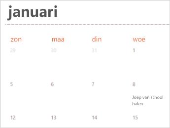 Agendasjabloon in Excel Online