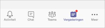 Knop Vergaderingen - mobiele schermafbeelding