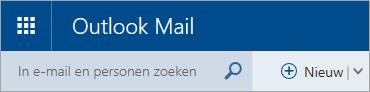 Schermafbeelding van de linkerbovenhoek van het klassieke postvak van Outlook.com.