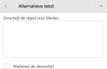 Dialoogvenster Alternatieve tekst in Word voor Android