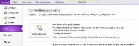 InfoPath-lijstformulieren voor SharePoint