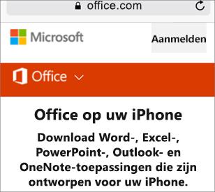 Ga naar Office.com