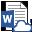 Het pictogram voor een gekoppeld Word-document
