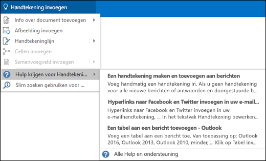 Typ wat u wilt doen in het vak Uitleg in Outlook om hulp te krijgen bij die taak