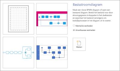 Selecteer Basisstroomdiagram onder Sjablonen.