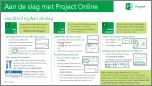 Aan de slag met de Beknopte handleiding van Project Online