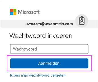 Voer uw wachtwoord voor Outlook.com in