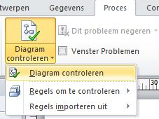 De knop Diagram controleren