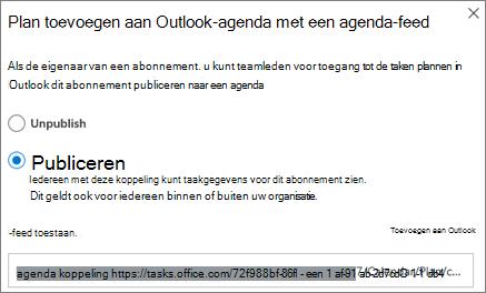 Schermafbeelding van het abonnement toevoegen aan het dialoogvenster Outlook-agenda