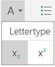 Subscript en superscript