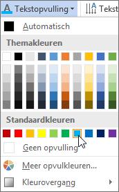 Een opvulkleur voor tekst kiezen