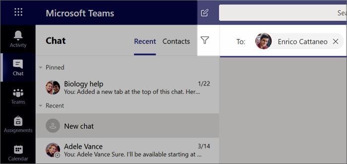 Een nieuwe chat starten