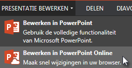 Openen in PowerPoint Online