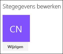 Schermafbeelding van het dialoogvenster in SharePoint voor het wijzigen van het sitelogo.