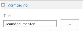 De titel van de standaarddocumentbibliotheek wijzigen in Teamdocumenten