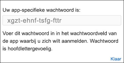 Uw app-wachtwoord kopiëren
