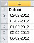 Geconverteerde datums