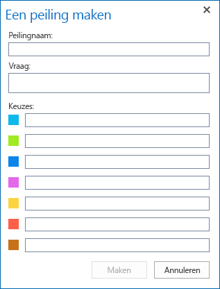 Schermafbeelding van maken van peiling