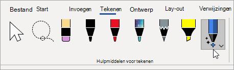 Het hulpmiddel inkt editor selecteren