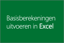 Basisberekeningen uitvoeren in Excel 2013