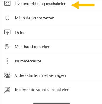 Live-bijschriften in- mobiele schermafbeelding
