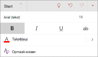 Menu Lettertype in PowerPoint voor Android.
