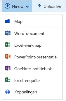 Een nieuw bestand in een documentbibliotheek maken in Office 365
