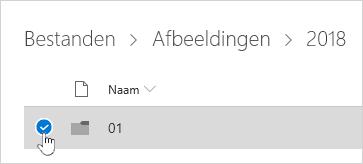 Een OneDrive-map selecteren