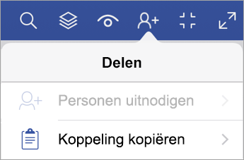 Koppeling kopiëren in Visio Viewer voor iPad