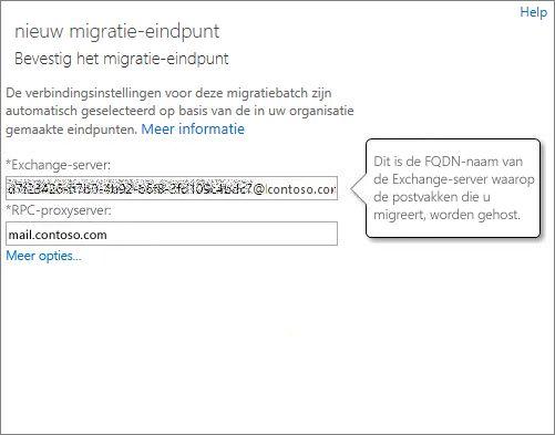 Bevestigde verbinding voor Outlook Anywhere-eindpunt.
