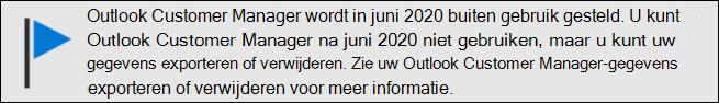 Outlook Customer Manager einde van de ondersteuning in juni 2020