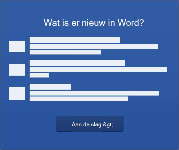 Beginnen met het activeren van Word 2016 voor Mac