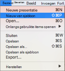 Paginasjablonen in PowerPoint voor Mac