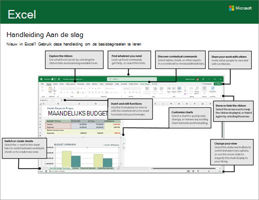 Aan de slag met Excel 2016 (Windows)
