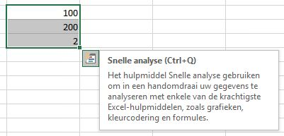 Snelle analyse