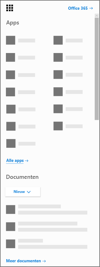 Het startprogramma voor de Office 365-app