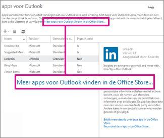 Meer apps zoeken in de Office Store