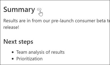 Voorbeeld van een koppeling naar een pagina-fixeerpunt