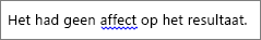 Mogelijke grammaticale fout aangegeven met blauwe golvende lijn