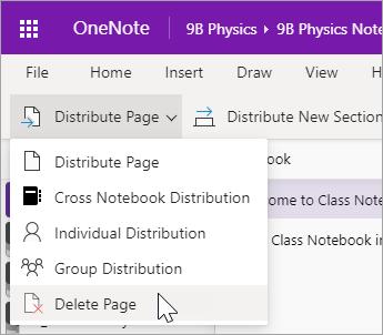 Selecteer Pagina verwijderen.
