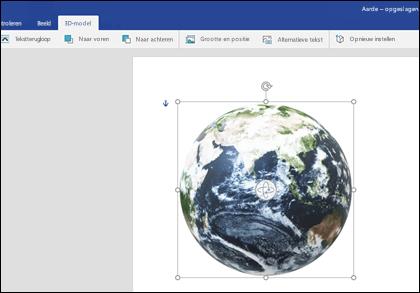 Het tabblad 3D-model van Word