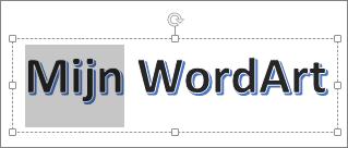 WordArt met bepaalde tekst geselecteerd